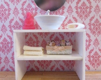 Bathroom Cabinet with shelf. 1:12 scale