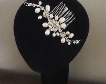 Freshwater Pearl Bridal Hair Comb
