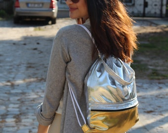 Multi Gold Silver Gym Bag - hannisch
