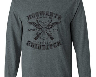 Hogwarts Quidditch Long Sleeve Tee Team Captain