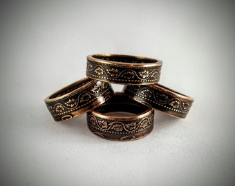 Canadian Large Cent Coin Rings
