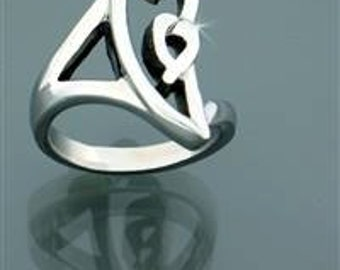 Modern Born in Your Heart Ring (S66)