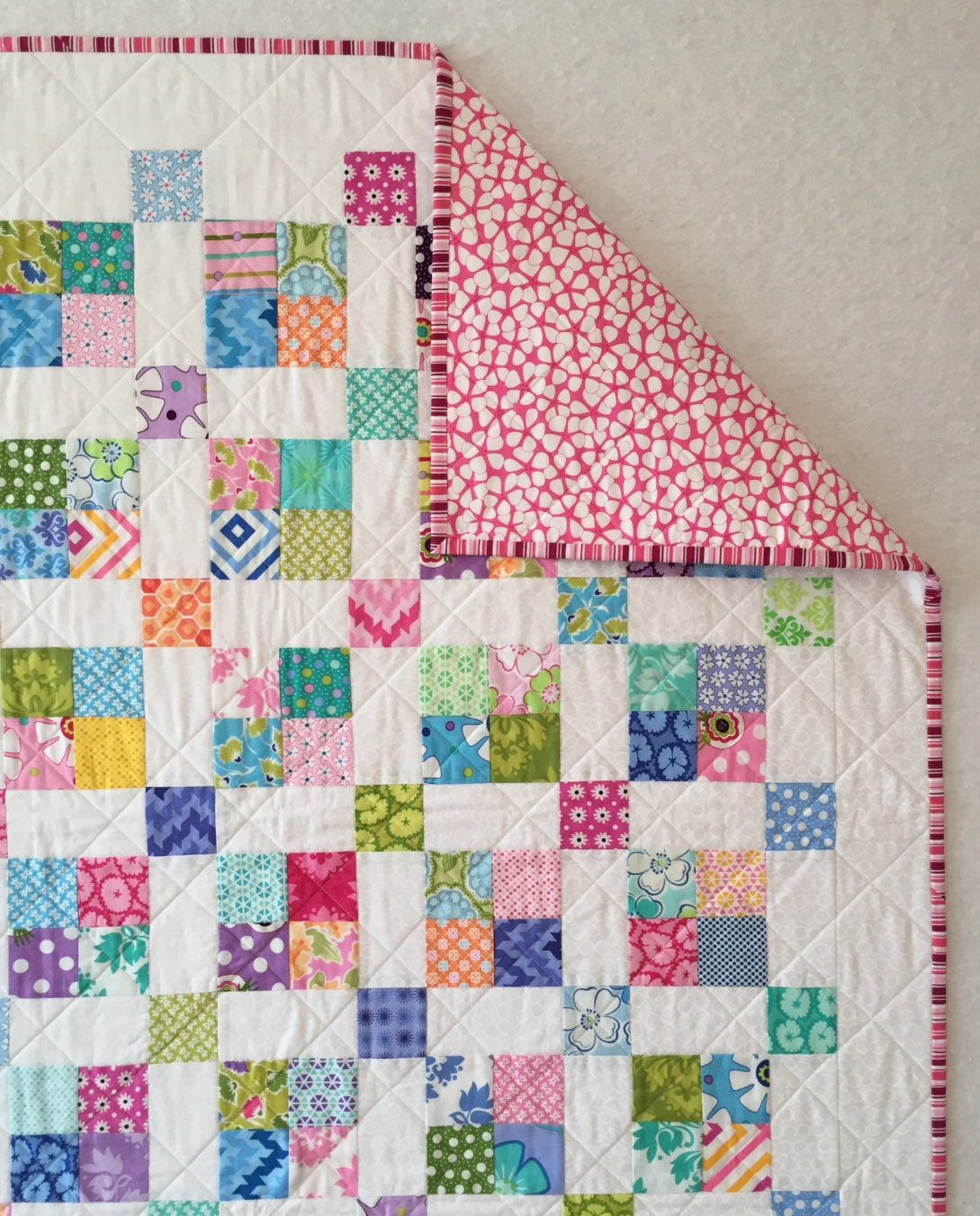 Modern Baby Quilt Baby Quilt Toddler Bedding Homemade Baby