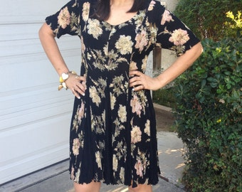 90's floral swing dress