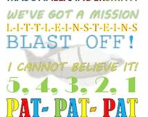 Little Einsteins Birthday Poster, Little Einsteins Subway Art, Customizable Little Einsteins Quotes and digital file