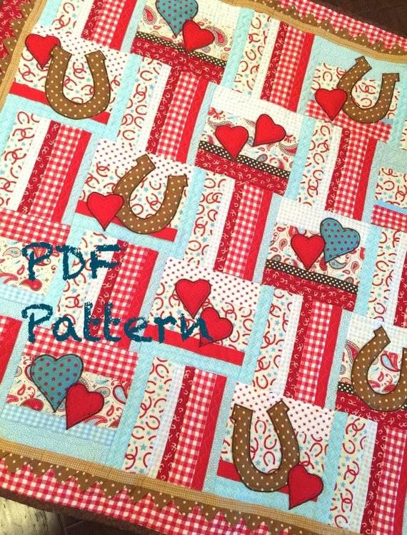 Western Baby Boy Quilt Pattern Cowboy Quilt Pattern Lil