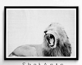 African Prints, Safari Baby Shower, Rustic Decor, Fathers Day, African Lion Print, Up Minimalist Poster, Africanart Print, Jungle Wall Decal