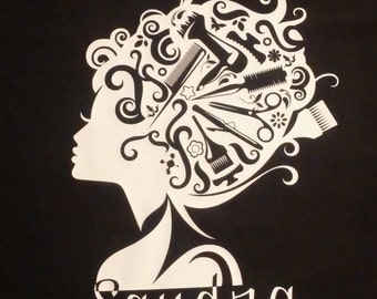 Personalized Hairdresser T-shirt