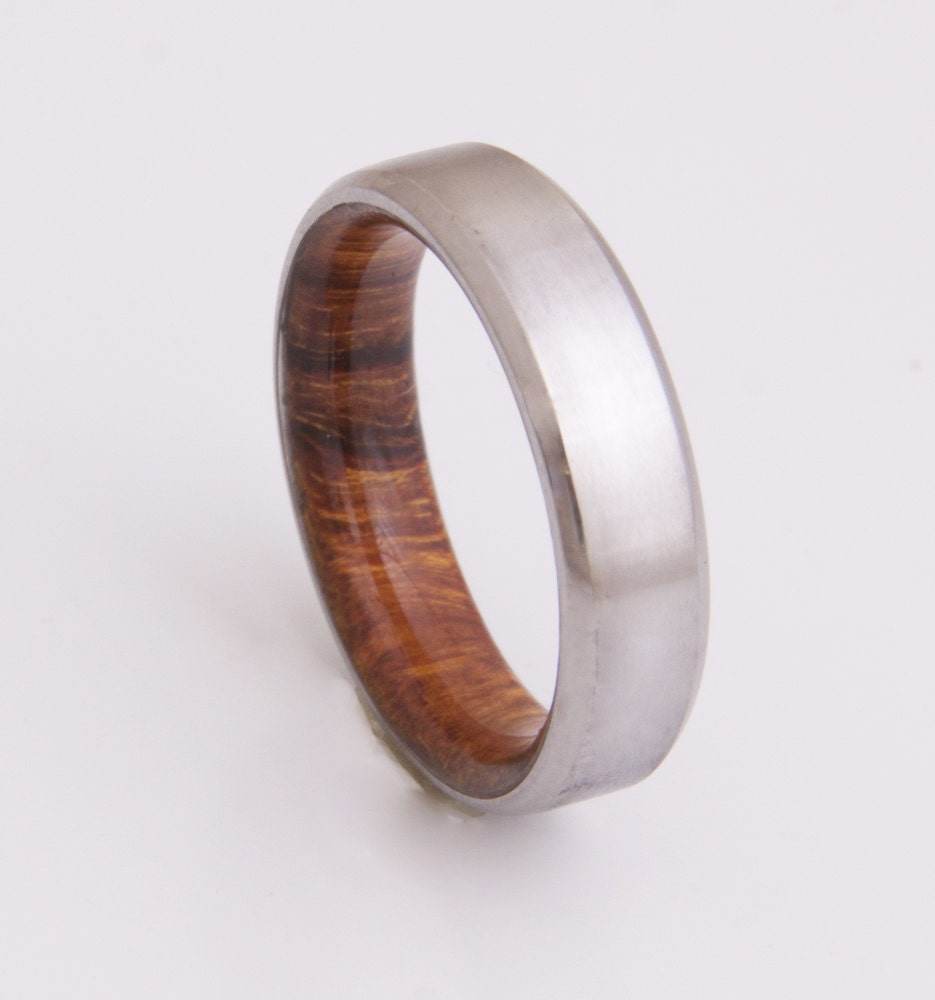 titanium and iron wood mens wood rings wood wedding band. Black Bedroom Furniture Sets. Home Design Ideas