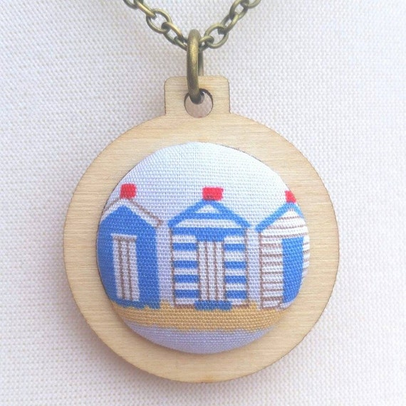 Beach Hut Jewellery In Mini Embroidery Hoop By Hopetheblackdog