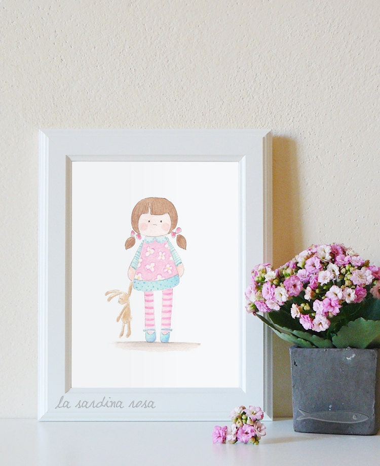 Baby girl wall art nursery decor baby girl room by for Baby girl wall decoration