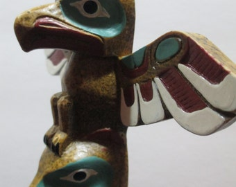 TOTEM POLE CANADIAN Handcrafted
