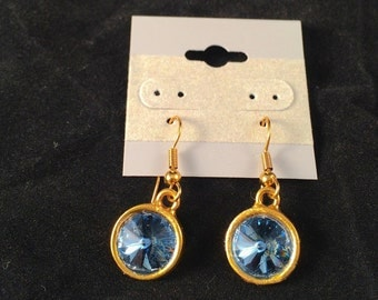 Navy Blue Drop Earrings