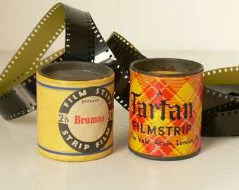2 Very Cute Vintage Film Strip Tins - British Made - 1950's