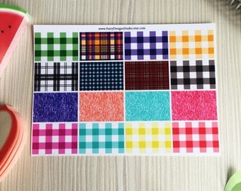 Patterned Half Box Planner Stickers