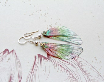 Sterling Silver Fairy Wing Earrings Fairy Gifts for Her