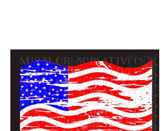 American Flag Distressed SVG Cut file  Cricut explore file 4th of July t-shirt design scrapbook vinyl decal wood sign t shirt cricut cameo