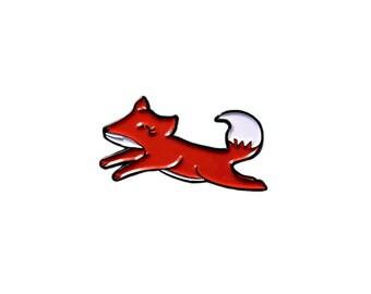 Cute Fox Lapel Pin - Soft Enamel Kawaii Pins