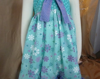 Twirly Knot Dress/Homemade Girl's Dress/Knot Dress/Matilda Jane Style Dress/Botique Dress
