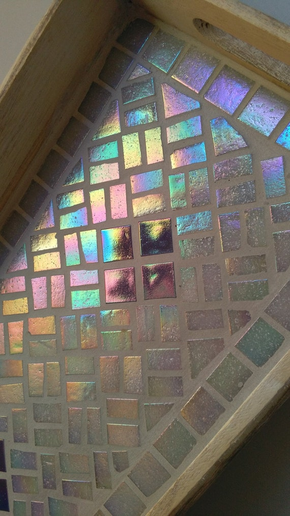 "Rustic Mosaic Tray ""Firefly"""