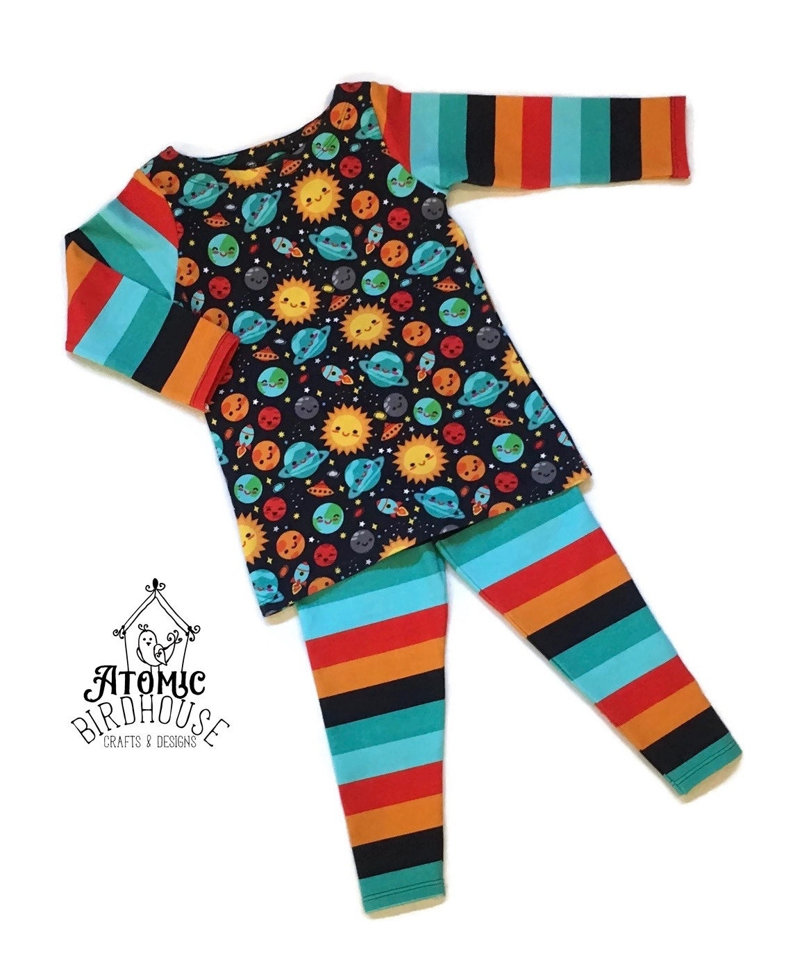 Little girls outfit space theme size 3t outer space girls for Outer space outfit