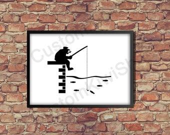 poster printing Fisherman