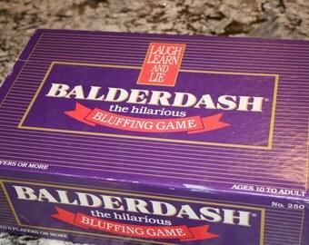 1984 Balderdash Board Game//By Gameworks Productions, Inc.//Original Game//Ages 10 to Adult//Vintage Board Game
