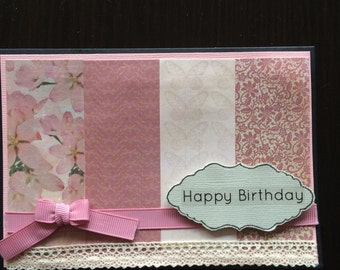 Pink Blossoms - Birthday Card
