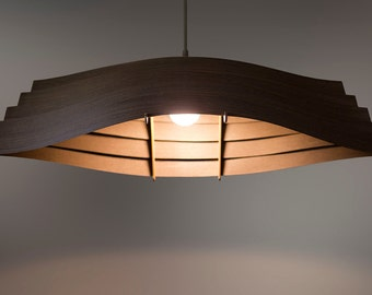 Wood Veneer Lamp Etsy