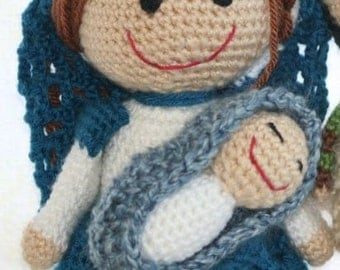 Saint Mary and Baby Jesus Crochet Pattern