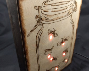 Mason Jar (LED Nightlight)