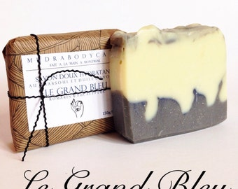 Face & body SOAP / / Face and Body Soap / / Ghassoul and Avocado oil / / all natural soap / / organic soap / / handmade in Montréal