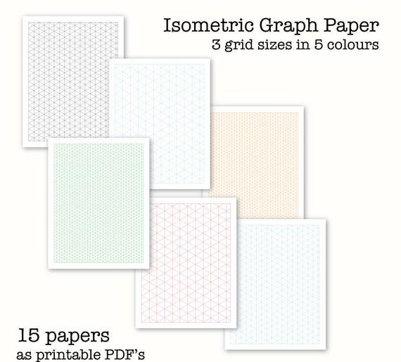 15 isometrica grafico paper carta millimetrata digitale