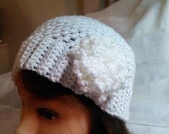 Soft, feminine beanie hat for women