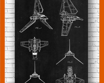 Imperial Shuttle Poster,Star wars poster, Imperial Shuttle Patent, Imperial Shuttle Print, Imperial Shuttle Art Imperial Shuttle Decor #P112