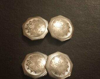 Victorian 14K White Gold and Platinum Cufflinks