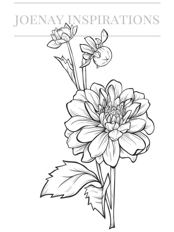 Adult Coloring Book, Printable Coloring Pages, Coloring Pages, Coloring Book for Adults, Instant Download, Fancy Flowers 4 page 2