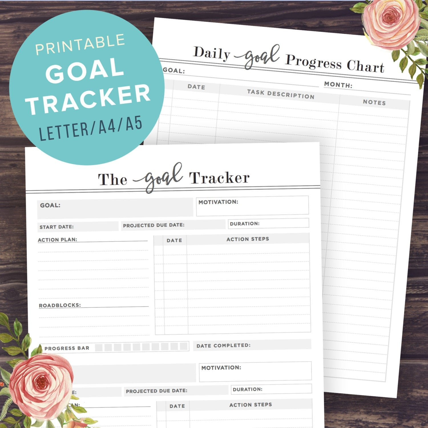It's just an image of Impertinent Printable Goal Tracker