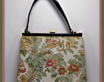 Vintage Garay Handbag,Vintage Tapestry Handbag,Vintage Handbag,Vintage Purse,Vintage Tapestry Purse,Vintage Pocketbook,Vintage Garay Purse