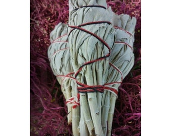 "WHITE SAGE Smudge Stick, 4"", Smudging, Purifying, Cleansing, Clearing, Spiritual, Ceremony, Ritual, Sacred, Smoke, Protective, Aromatic"