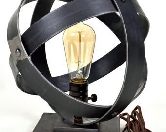 Industrial Sphere Table Lamp