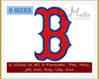 Boston RED SOX EMBROIDERY designs Mlb Baseball logos