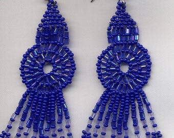 Wheel with fringe earrings