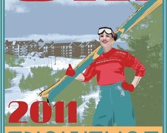Limited Edition WV Ski Poster