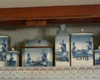 EARLY 1900's Delft Canister set