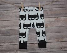 Baby Leggings, Toddler Leggings - Bat Mask