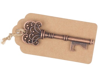 50 Wedding Favors, Place Card Holders, Table Number Assignments, Fall, Bulk Skeleton Keys, Key Bottle Openers, Vintage Party Decorations