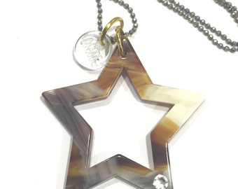 Star sillouette necklace