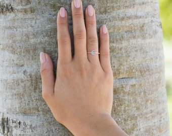 Crescent Ring // Sterling Silver Ring // Moon Ring // Half Moon Ring // Celestial Ring