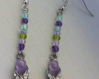 Purple Flip Flop Earrings